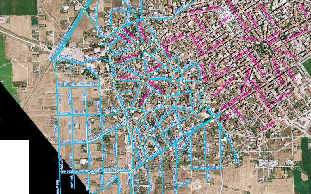 Eordaia's water supply and sewerage company- Mapping-depiction and management of the water supply network handled by the company, using G.I.S.