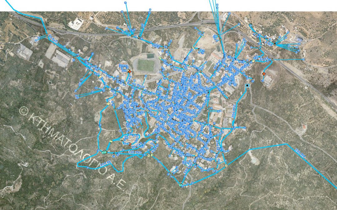 Agios Nikolaos' water supply and sewerage company- G.I.S software development for the water supply network of Neapoli.